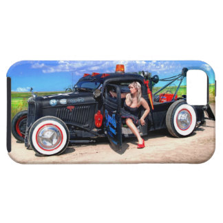 Speeds Towing Rat Rod Truck Pin Up Girl iPhone 5 Cases