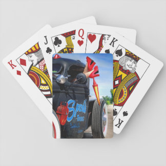 Speeds Towing Rat Rod Truck Rockabilly Betty Pinup Playing Cards