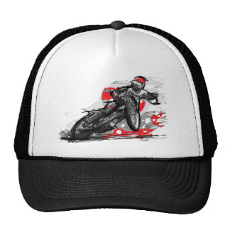 Speedway Flat Track Motorcycle Racer Cap
