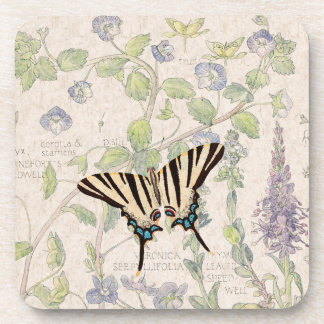Speedwell Flowers Wildlife Butterfly Coaster
