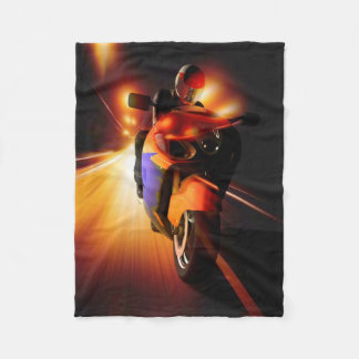 Speedy Biker Small Fleece Blanket