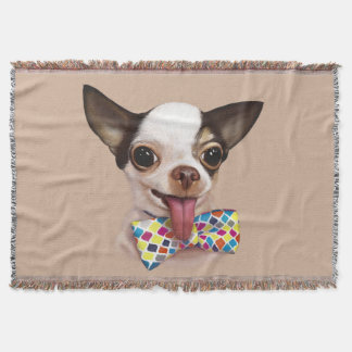 Speedy Boy Boy Chihuahua Throw Blanket