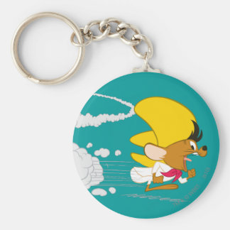 SPEEDY GONZALES™ Running in Color Basic Round Button Key Ring