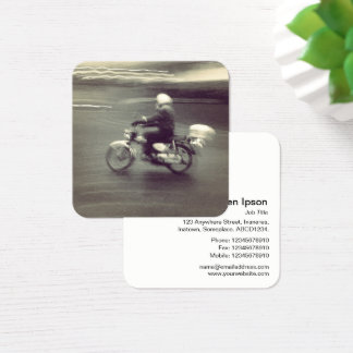 Speedy Moped Square Business Card