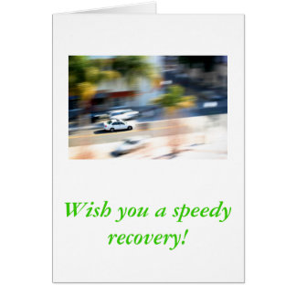 speedy recovery note card
