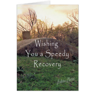 Speedy Recovery-customize Greeting Card