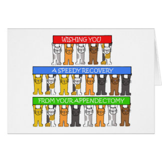 Speedy recovery from appendectomy. greeting card