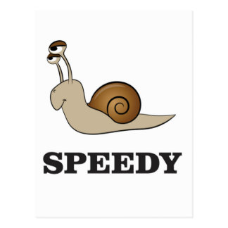 speedy snail postcard