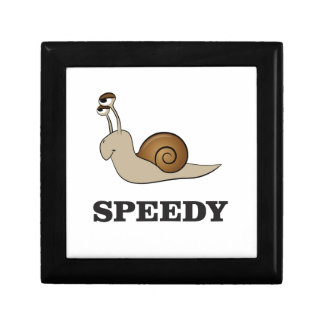 speedy snail small square gift box