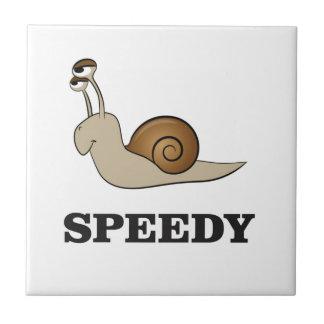 speedy snail small square tile