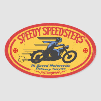 Speedy Speedsters -ov Oval Sticker