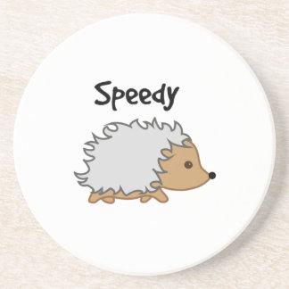 Speedy the Hedgehog Cartoon Illustration Coasters