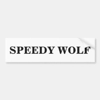 Speedy Wolf Bumper Sticker Car Bumper Sticker