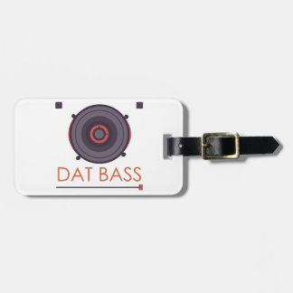 spekers-pattern-music-sound-bass-grid-bass luggage tag