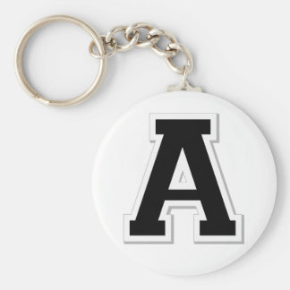 Spell it Out Initial Letter A in Black Key Chain