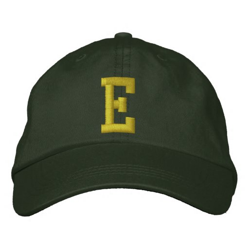 Spell it Out Initial Letter E Ball Cap Embroidered Baseball Cap
