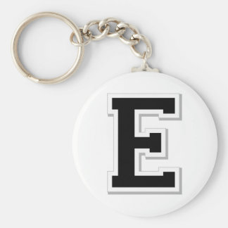 Spell it Out Initial Letter E in Black Key Chain