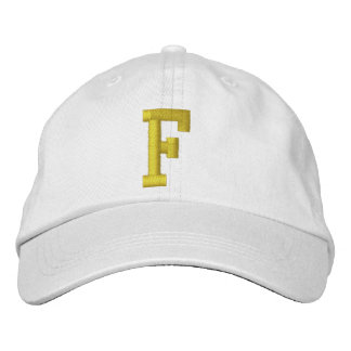 Spell it Out Initial Letter F Ball Cap Embroidered Baseball Cap