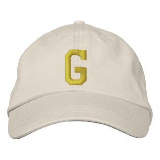 Spell it Out Initial Letter G Ball Cap Embroidered Baseball Caps