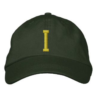 Spell it Out Initial Letter I Ball Cap Embroidered Hats