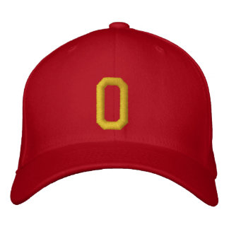 Spell it Out Initial Letter O Ball Cap Embroidered Cap
