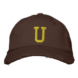 Spell it Out Initial Letter U Ball Cap Embroidered Hat