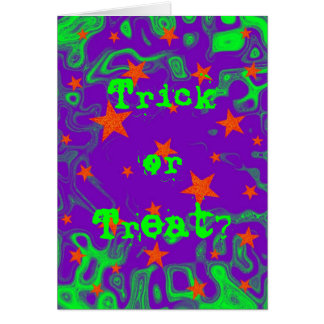 Spellbound Trick or Treat text greetings card