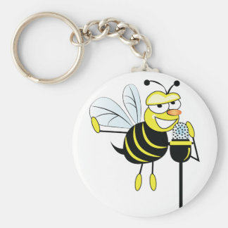 Spelling Bee Basic Round Button Key Ring