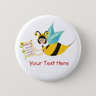 Spelling Bee Champ 6 Cm Round Badge