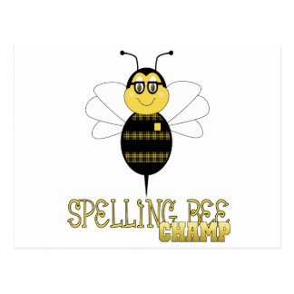Spelling Bee Champ Postcard