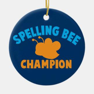 Spelling Bee Champion Ceramic Ornament