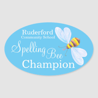 Spelling bee champion personalized school stickers