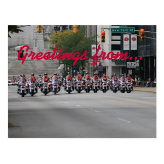 Spelling Motorcycles, Greetings from... Postcard