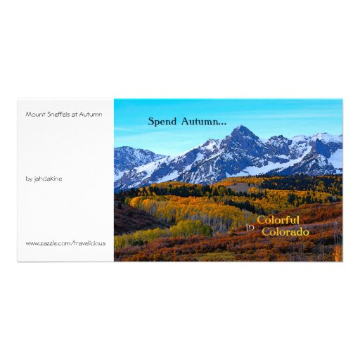 Spend Autumn in Colorful Colorado Personalized Photo Card