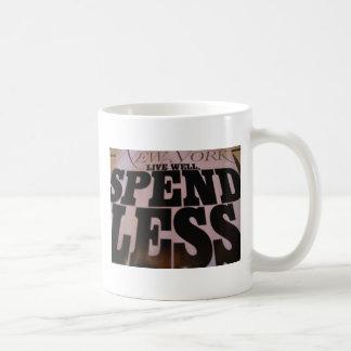 Spend Less Basic White Mug