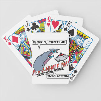 Sperm Whale Man Action Bicycle Playing Cards
