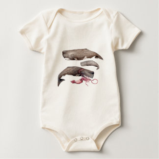Sperm whale trio baby bodysuit
