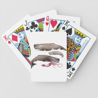 Sperm whale trio bicycle playing cards