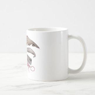 Sperm whale trio coffee mug