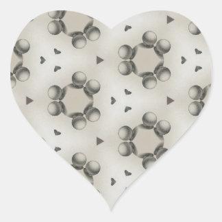 Sphere design pattern heart sticker