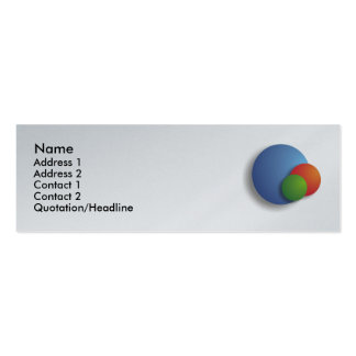 Sphere Logo - Skinny card Pack Of Skinny Business Cards