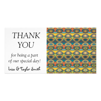 Spheres pattern abstract design customised photo card