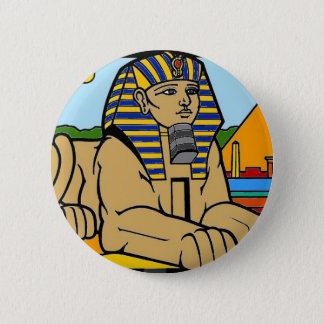 Sphinx 6 Cm Round Badge