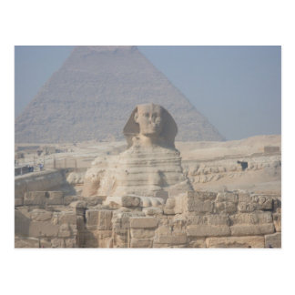 Sphinx and Pyramid in Egypt Postcard