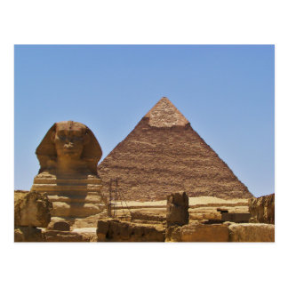 Sphinx And Pyramid Postcard