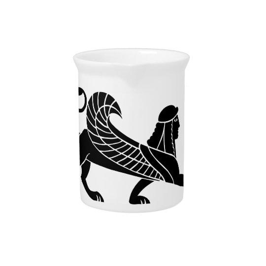 Sphinx, Greek relief design Beverage Pitchers