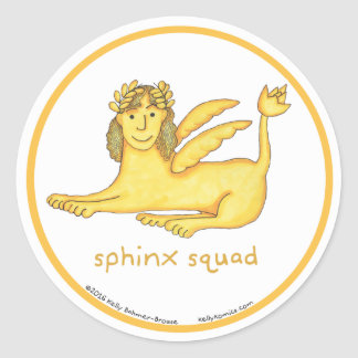 Sphinx Squad round stickers