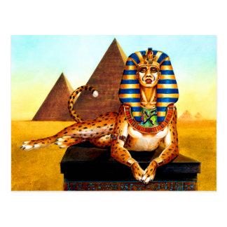 Sphinx with Golden Eyes Postcard