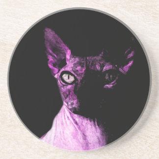 Sphynx cat beverage coaster