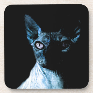 Sphynx cat drink coasters